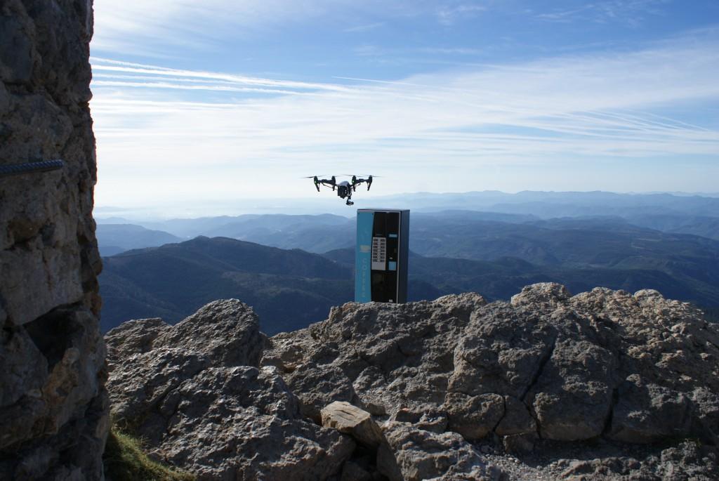 Drones en la cima del Penyagolosa