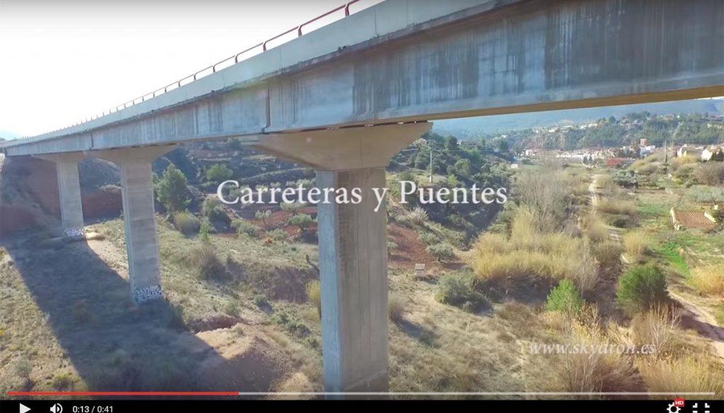 Infraestructuras, obra civil y paneles solares con drones