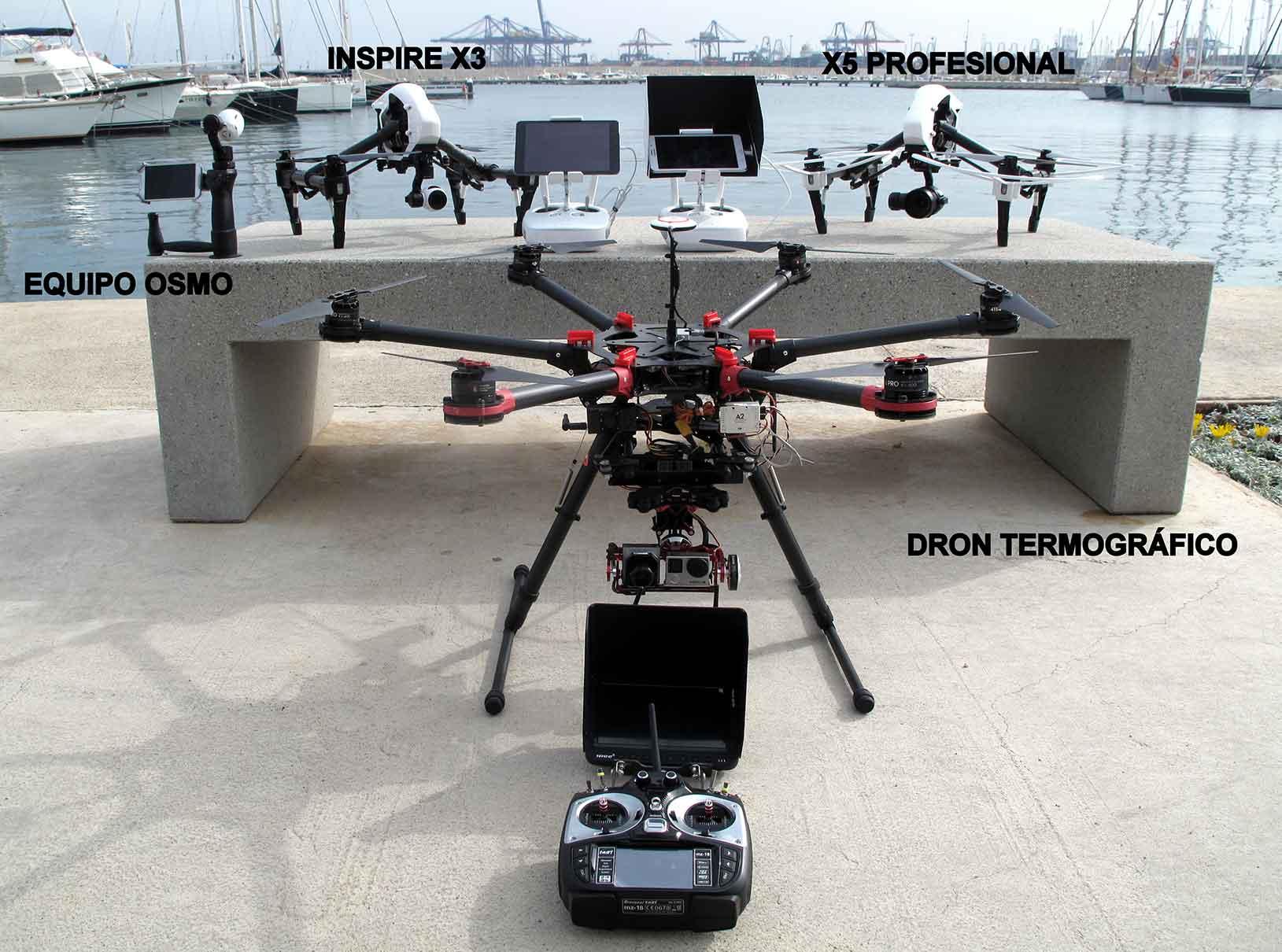 Drones para termografía y grabaciones: la familia crece