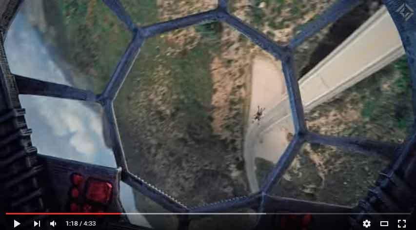 Drones y Star Wars: Espectáculo galáctico garantizado