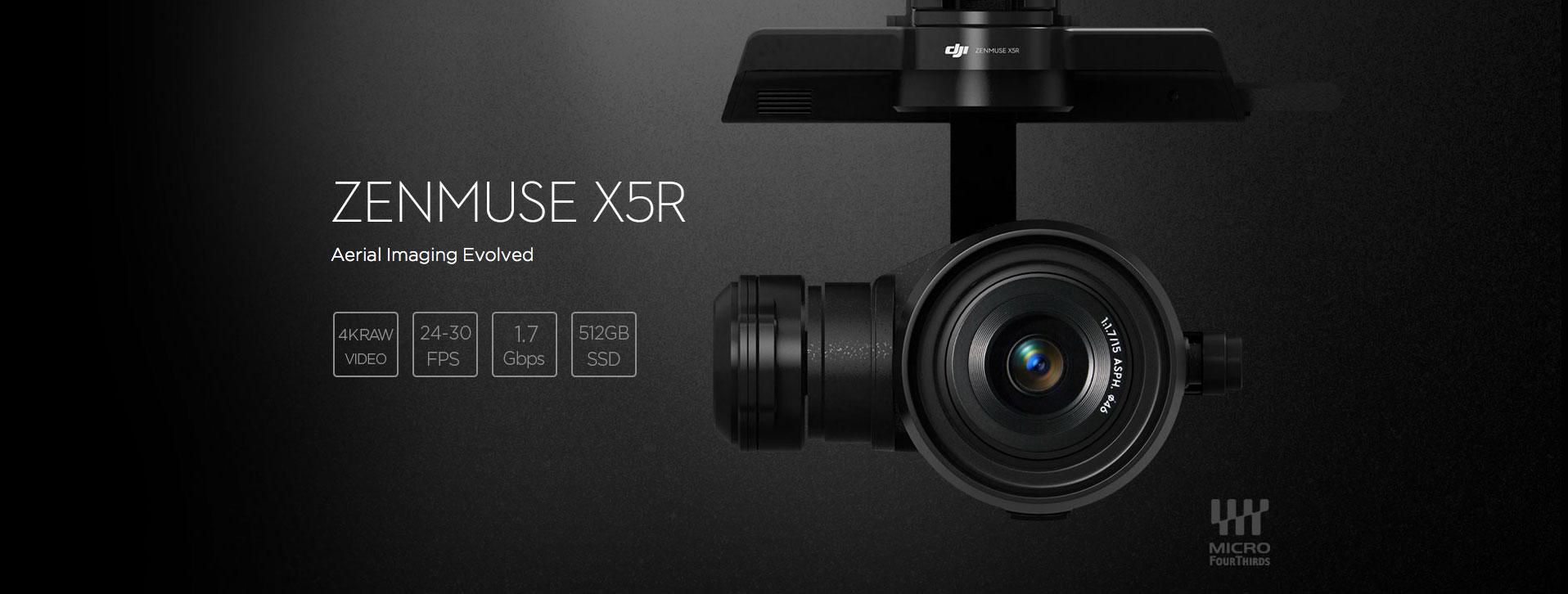 Drones con cámara HD España Zenmuse X5r