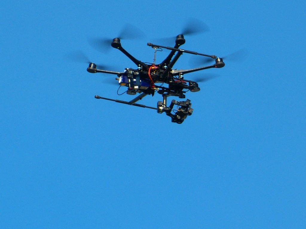 Seguridad aérea privada con drones