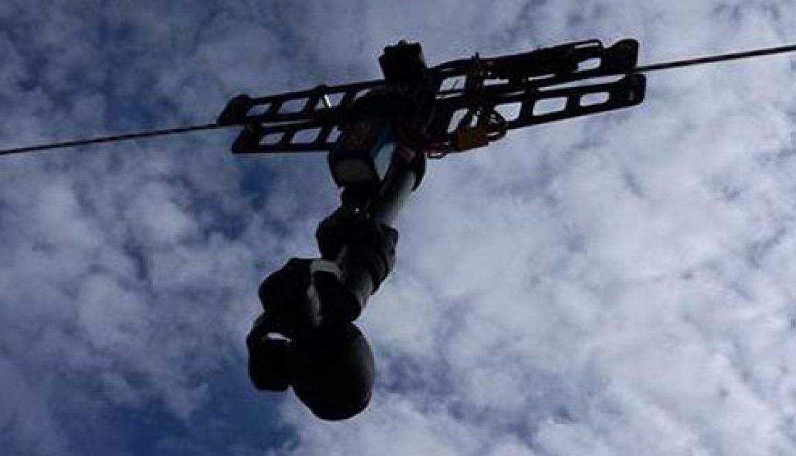 sistema cable cam para cámaras hd 4k dji