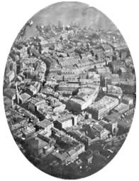La primera fotografía aérea conservada, Boston, 1860.