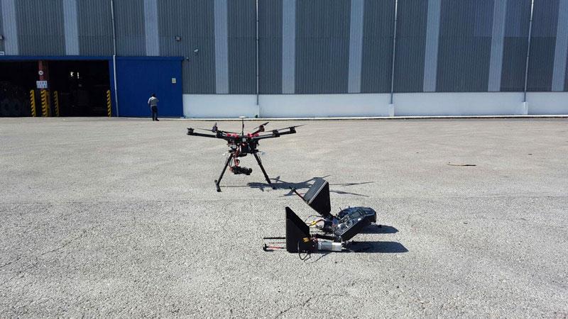 Comprobación térmica de placas solares con drones