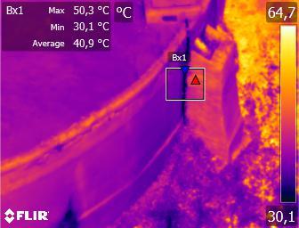 Detección de filtraciones en depósitos de agua con termografía aérea