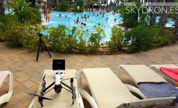 Cuando llega el calor del verano nuestros drones también van a la piscina para refrescarse