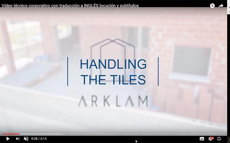 Vídeo técnico corporativo con locución y subtítulos en inglés