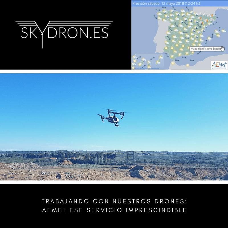 Trabajando con nuestros drones: AEMET ese servicio imprescindible