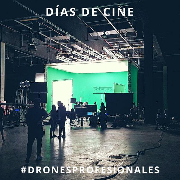 Días de cine con drones profesionales en interior