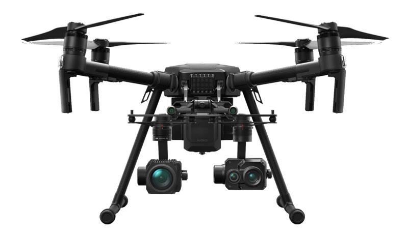 Drone Termográfico e Industrial DJI Matrice 210 V2 multiplataforma para trabajos técnicos e industriales de SKYDRON.ES
