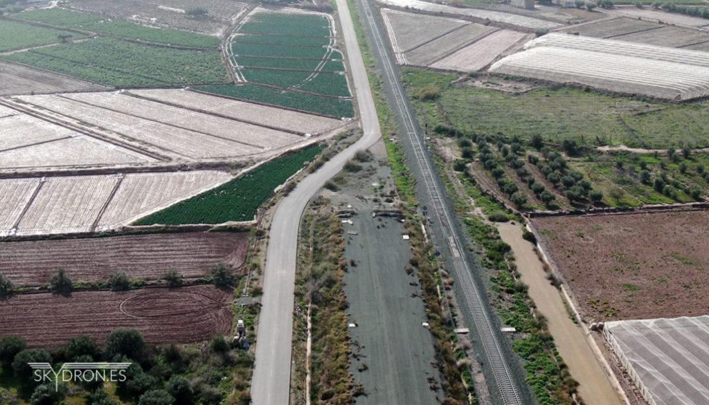 Seguimiento obra con drones AVE Murcía Almeria