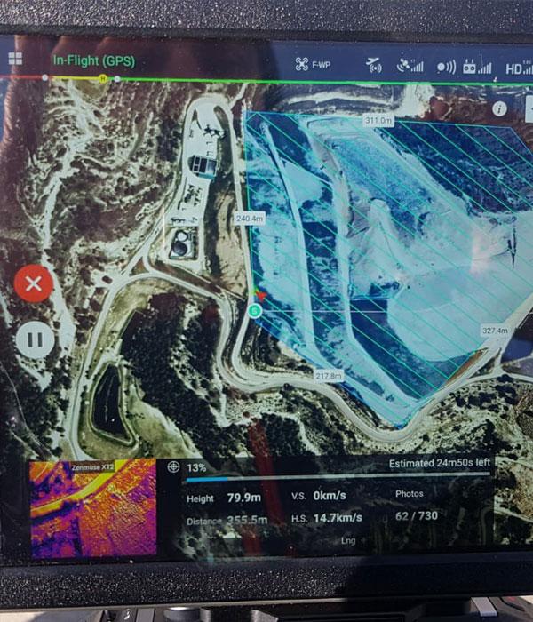 Termografía aérea con drones y cámaras termográficas XT2 panel
